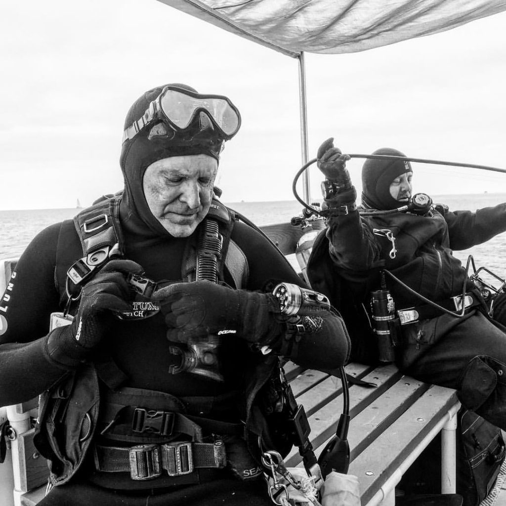 Divers donate their time to ODA, searching the ocean for debris and marine life trapped in nets.