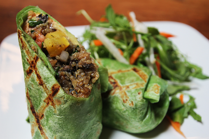The Roasted Vegetable Quinoa Burrito at Casa Escobar. Photo: Tim Horton