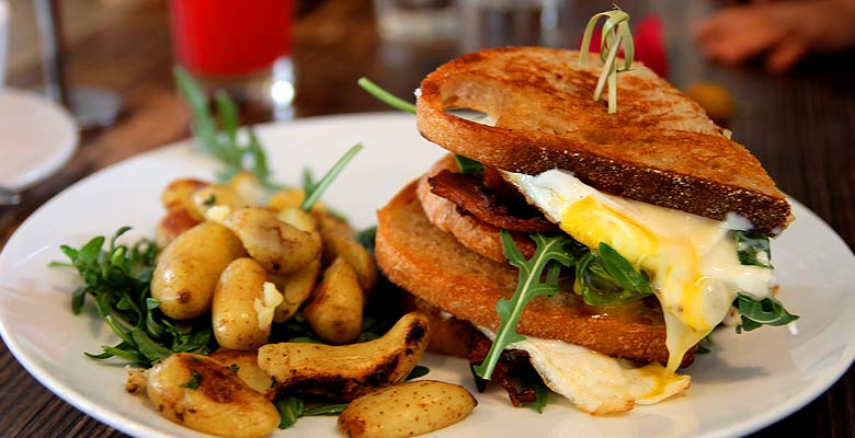 Malibu Farm Fried Egg Sandwich. Photo: Tim Horton