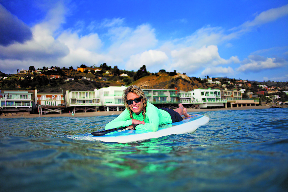 Tracey Ross on a weekend morning paddle.